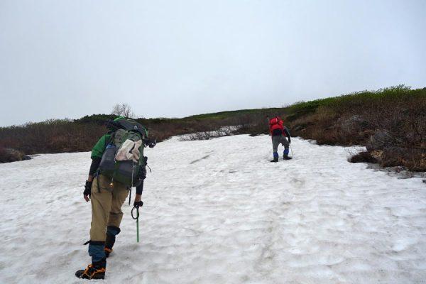 オプタテシケの雪渓