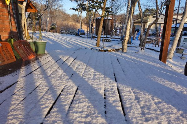 ヴァンブランの積雪