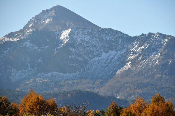 山が白くなりました。