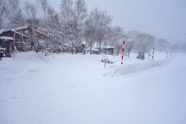 裏磐梯の雪の状態