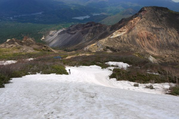 弘法清水の残雪