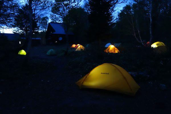 見晴でテント泊