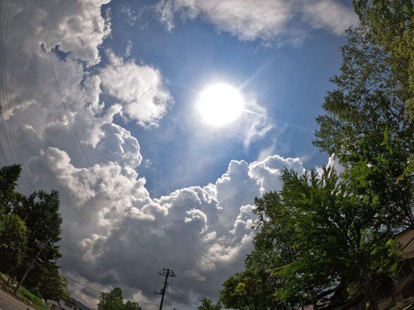 裏磐梯の入道雲