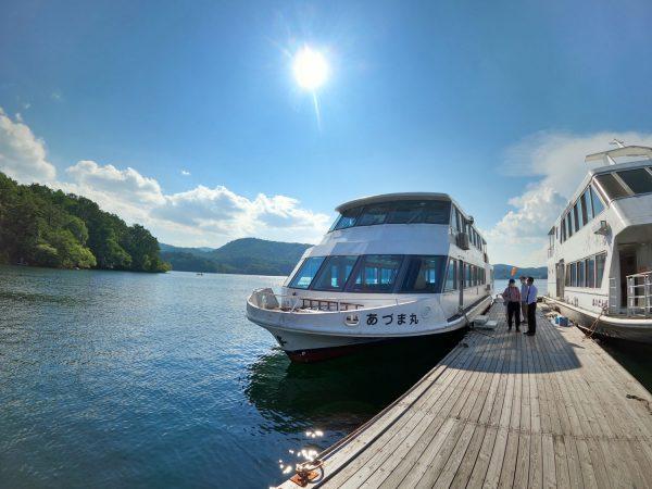 桧原湖観光船